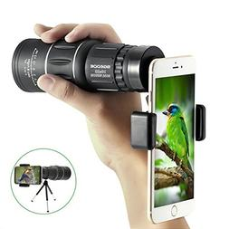 10x40 Focus Monocular Scope,SGODDE Portable HD Spotting Scop