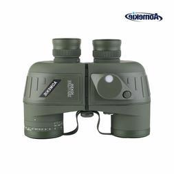 10X50 Binoculars with Night Vision Rangefinder Compass Water