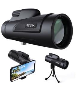 12x50 Monocular Telescope for Adults, AUCEE HD High Power Ba