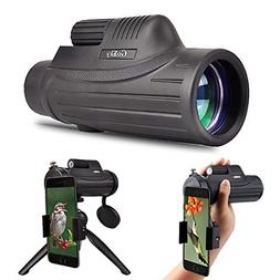 Gosky 12x50 Monocular Telescope with Smartphone Adapter and
