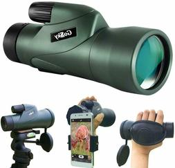 Gosky 12x55 HD Waterproof Monocular Telescope and Quick Smar