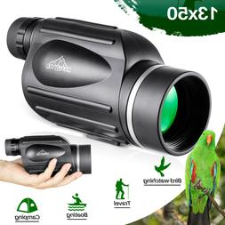 13x50 HD Rangefinder Spotting Scope Monoculars with Reticle