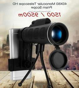 1500/9500m 40X60 HD Mini Monocular HD Telescope Phone Camera