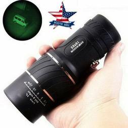 16X52 HD Optical Focus Monocular Day/Night Vision Camping Hi