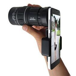 16x52 High Power HD Monocular Telescope Lens Dual Focus Pris