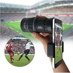 16x52 Optics Monocular Zoom Lens Camping Hiking Hunting Tele