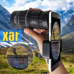16x52 Zoom Hiking Monocular Telescope Lens Camera HD Scope H