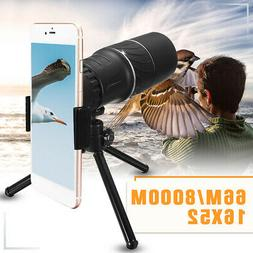 16x52 Zoom Hiking Monocular Telescope Lens Camera Scope Hunt