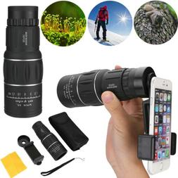 16X52 Zoom Optical HD Monocular Telescope Clip for Outdoor T