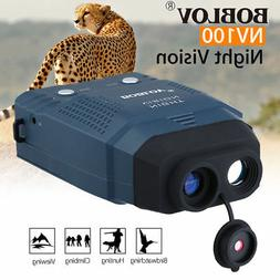 2X Night Vision Monocular Blue-Infrared Illuminator Allows V