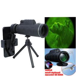 40X60 Zoom HD Vision Monocular Telescope Optical Camping Hun