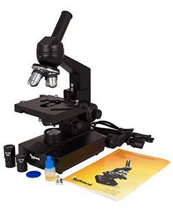Levenhuk 320 Biological Microscope, monocular, four achromat