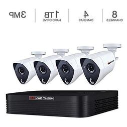 Night Owl 8-Channel 3MP Extreme HD 4-Camera Video Security S