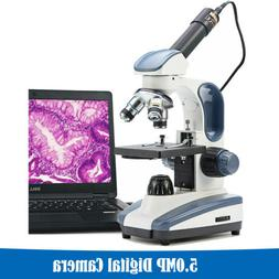 SWIFT 40X-1000X Lab Science Compound Microscope With 5MP Dig