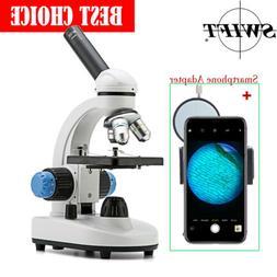 SWIFT 40X-1000X Student Lab Compound Microscope +Slides +Sma