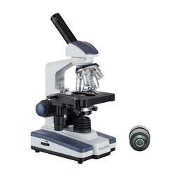 AmScope 40X-2500X LED Monocular Darkfield Compound Microscop