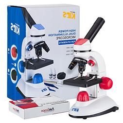 AmScope-KIDS 40X-1000X Dual Illumination Microscope for Kids