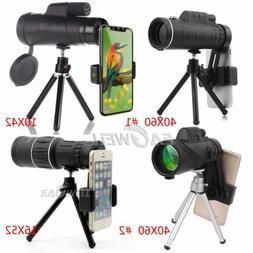 40X60 16X52 10X42 Zoom Optical Lens Monocular Telescope+Trip