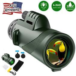 40x60 HD Binoculars & Monocular BAK4 Prism High Power Waterp
