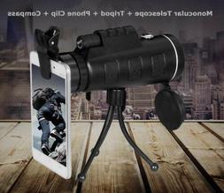 40X60 Focus Zoom Outdoor Waterproof Handheld Monocular Teles