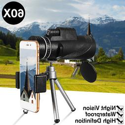 40X60 HD Night Vision Monocular Telescope BAK4 Prism Scope +