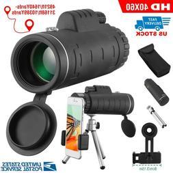 40x60 HD Optical Monocular Telescope w/ FMC Lens Low Light V