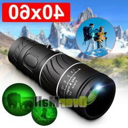 40x60 HD Optical Monocular Telescope w/ FMC Lens Day and Nig