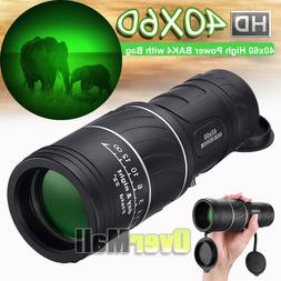 40x60 High Power BAK4 HD Monocular telescope Waterproof nigh