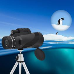 40X60 Monocular Telescope HD Night Vision BAK4Prism Scope wi