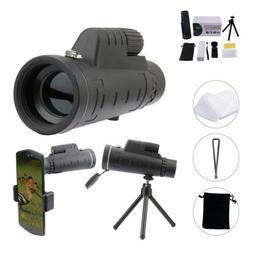 40X60 Zoom Optical 18X HD Lens Monocular Telescope + Tripod