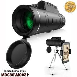 40X60 Zoom Optical 18X HD Lens Monocular Telescope + Tripod