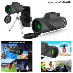 40X60 Zoom Optical HD Lens Monocular Telescope+Tripod+Clip F
