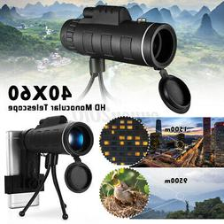 40X60 Zoom Optical HD Lens Monocular Telescope+ Tripod+ Clip
