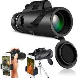 40X60 Zoom Optical HD Lens Monocular Telescope+ Tripod+Clip