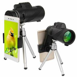 40X60 Zoom Optical HD Lens Monocular Telescope&Tripod& Clip
