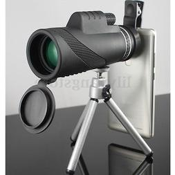 40X60 Zoom Optical Lens Monocular Telescope + Clip + Tripod