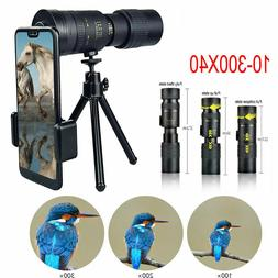 4K 10-300X40mm Super Telephoto Zoom Monocular Telescope Port