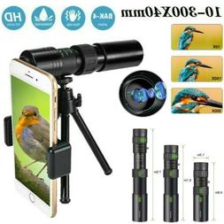 4K 10-300X40mm Super Telephoto Zoom Portable Monocular Teles
