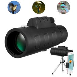 50x60 HD Zoom Monocular Telescope w. Clip Tripod for Smartph