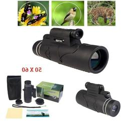 50x60 Monocular Outdoor Optics Zoom Lens Camping Hiking BAK4