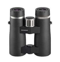 MINOX 62048 Comfort Bridge BL HD Binocular, Matte Black, 8x