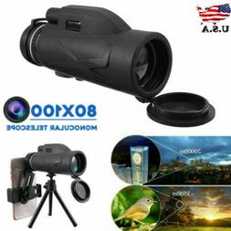 80X100 Zooms Monocular Telescope Prism High-Definition With
