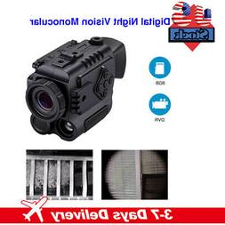 8GB 5X Digital Infrared Night Vision Monocular 850NM Take Ph
