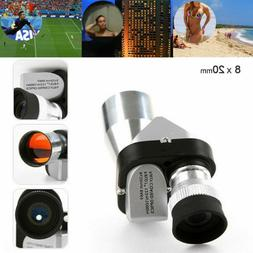 8x20 Mini Pocket Monocular Telescope Optical Lens FMC Low-li