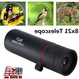 8x21 Focus Monocular Telescope Green Film For Navigation Hun