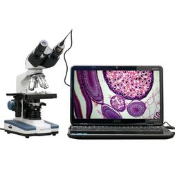 AmScope 40X-2500X LED Digital Binocular Compound Microscope