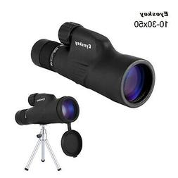 Monoculars, 10-30x50 High Powered Zoom Monocular-Waterproof