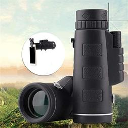 BeesClover Adjustable 35x50 BAK4 Monocular Telescope Camping