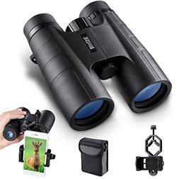 BNISE Binoculars for Adults Compact, 10X42 HD Professional,