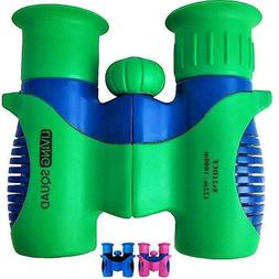 Binoculars for Kids 8x21 Shock Proof Set by Living Squad- Bi